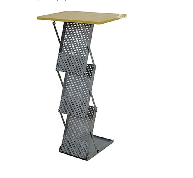 Portable Table: Folding Design with 3 Literature Pockets