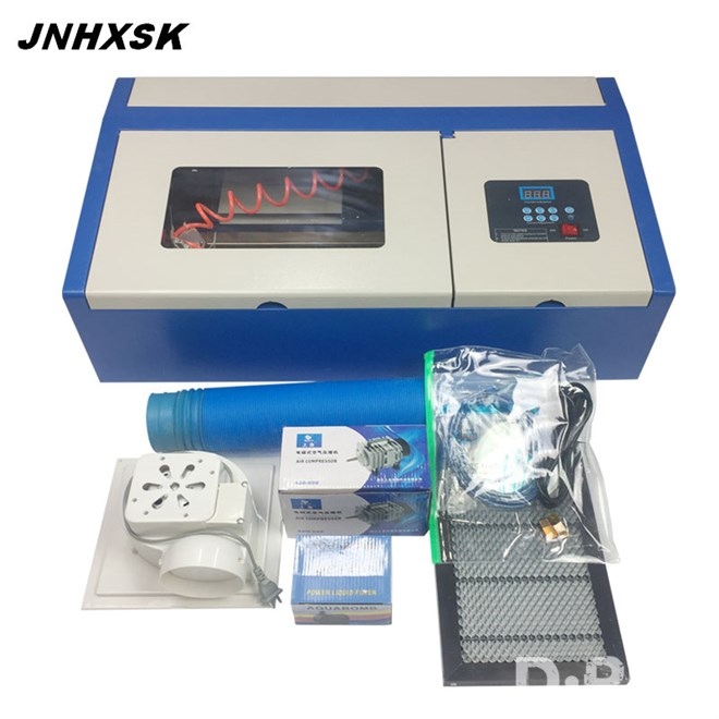 JNHXSK Desktop TS3020/2030 40W CO2 Laser Engraving Machine with honeycomb worktable